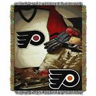 """Flyers OFFICIAL National Hockey League, """"Vintage"""" 48""""x 60"""" Woven Tapestry Throw $36.71 USD on eBay"""