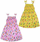 Girls Sun Dress New Summer Party Dresses 100% Cotton Kids Age 2 3 4 5 6 7 8 Year