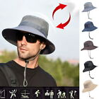 Foldable Men's Sun Hat Bucket Fishing Hiking Cap Wide Brim UV Protection Hat
