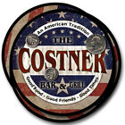 Costner Family Name Drink Coasters - 4pcs - Wine Beer Coffee & Bar Designs
