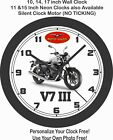 2019 MOTO GUZZI V7 III CARBON SHINE MOTORCYCLE WALL CLOCK-TRIUMPH, BMW, DUCATI $28.99 USD on eBay