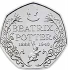 50p Fifty Pence coins 2016 Set Beatrix Peter Rabbit Squirrel Nutkin Tiggy Winkle
