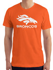 Denver Broncos Orange T-Shirt WHITE Graphic Cotton Adult Logo  S-2XL $12.49 USD on eBay