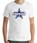 DALLAS COWBOYS WHITE T-shirt  Navy Graphic Cotton Adult Logo S-2XL on eBay