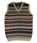 Mens Vintage style  1930's 40's WW2 Wartime Fair isle knit slip over Tank Top