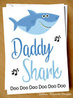 Funny Fathers Day Card Daddy Shark Son Daughter Dad Child Kid Song Cute Love Fun
