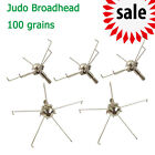 100 grain Judo Broadhead Arrowheads Point Tips Steel for Small Animal Games6/12P