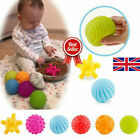 6/12PC Baby Massage Sensory Development Educational Funny Puzzle Ball Sound Toy