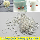 100x 925 Sterling Silver Earring Hook Wire Hypoallergenic Ear Wire Diy Jewellery