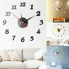 Modern Large Wall Clock 3D Mirror Sticker Unique Big Number Watch DIY Decor US