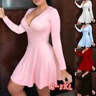 Womens Summer Sexy Dresses Deep V Neck High Wasit Bodycon Dresses Plus Size $14.51 USD on eBay