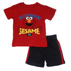Elmo Toddler Boys Red Character Top Two-Piece Short Set Size 2T 3T 4T