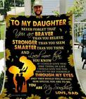 To My Daughter You Are My Sunshine Sunflower Sublimated Fleece Blanket One Side image
