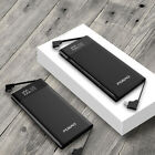 Ultrathin LCD 50000mAh LED Power Bank Metal Type-C/IOS/Micro USB Battery Charger