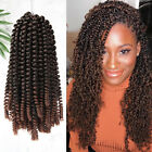 3 Packs Spring Twist Ombre Crochet Braids Kanekalon Braiding Hair As Human Soft