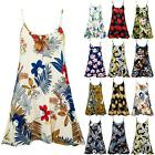 Womens Ladies Camisole Cami Strappy Floral Printed Vest Sleeveless Swing Dress
