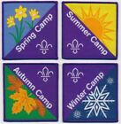 Scouting Fun Badge Summer, Autumn, Spring, Winter New 2019