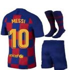 NEW 1920 BARCELONA HOME MESSI #10 KIDS JERSEY + SHORTS + SOCKS ALL YOUTH SIZES