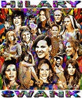 HILARY SWANK TRIBUTE T-SHIRT OR PRINT BY ED SEEMAN