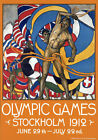 TR94 Vintage Swedish Olympic Travel Poster A1 A2 A3
