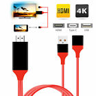 USB Type C to HDMI w/ Charging Cable for Samsung Galaxy S10 iPhone X Mcbook PC