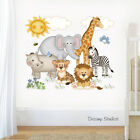 Safari Animal Nursery Decal Wall Art Baby Girl Sticker Kids Jungle Mural Room