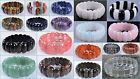 """25mm Faceted Gemstone Beads Stretchable Bracelet 8"""" *lot Of Choices*"""