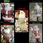 5 Different State Santa Claus 4 U 2 Pick From Painted/Unpainted Ceramic Bisque  image