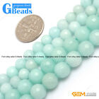 """Sky Blue Jade Gemstone Faceted Round Beads For Jewelry Making Free Shipping 15"""""""