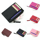 Womens Men Leather Small Mini Wallet Card Holder Zip Coin Small Purse Handbag US image