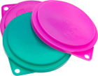 Pet Food Can Covers Dog Cat Reusable Flexible Lids Plastic Wrap Dishwasher Safe