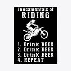 """Fundamentals Of Riding Drink Beer Gift Poster - 18""""x24"""""""