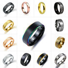 Women Men Stainless Steel Ring Band Wedding Rings Silver/Black/Gold Jewelry#5-13 $0.99 USD on eBay