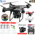 DJI PHANTOM 4 Clone Drone x pro With 4K HD Camera Wifi APP FPV RC Quadcopter A+