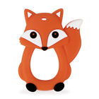 Cartoon Fox Infant Baby Teether Silicone Pacifier Soother Teething Toy Pendant
