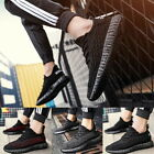 Fashion Men's Flat Trainers Casual Lace Up Mesh Running Sneaker Athletic Shoes