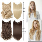 Fashion Hidden Invisible Wire Hairpiece Decor Straight Curly Hair Extensions