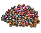 Mixed Coloured Leopard-print Print Plastic Round Spaced Beads 12mm 14mm 16mm18mm