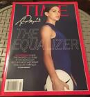 Alex Morgan World Cup Soccer Signed Time Magazine No Label JSA Witness COA