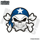 Bonnie Blue Flag Skull Crossbones Decal Biker Motorcycle Vinyl Sticker EVM
