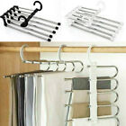 Pants Rack Multi-functional 5 In 1Stainless Steel Magic Hanger Scarf Tie Rack US