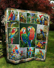 Macaw Collection Fleece Blanket 50x60x80 Made in US image