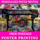 A0 A1 A2 A3 A4 Colour Poster Printing Service Satin - Photo Quality Paper