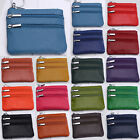 Women Genuine Leather Mini Purse Wallet Coin Money Credit Card Key Holder Zipper image