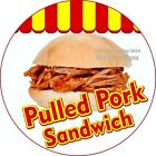 Pulled Pork Sandwich DECAL Choose Your Size Concession Food Truck Cir Sticker