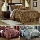 Adelle 7-Piece Paisley Jacquard Embroidered Comforter or 4pc Curtain Set image