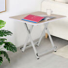 Set Of 2 Wood Tray Table Set Folding Wood TV Game Snack Dinner Laptop Stand