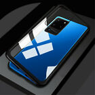 360° Magnetic Adsorption Flip Metal Frame Tempered Glass Hybrid Phone Case Cover