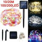 10/20m 100/200 Led Solar Fairy Lights String Lamps Party Wedding Outdoor Decor