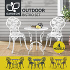 Gardeon Outdoor Setting Bistro Set Patio Garden Furniture Table Chairs 3 Piece